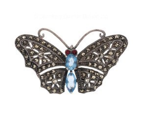 Vintage Marcasite Butterfly Brooch