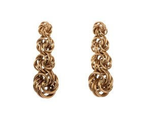 Pre-owned Gold Fancy Drop Earrings