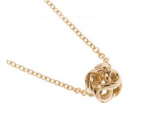 9ct Yellow Gold Infinity Pendant