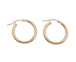 9ct Yellow Gold 18mm Tube Hoop Earrings
