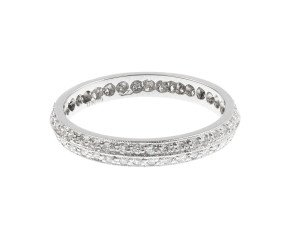 18ct White Gold 0.40ct Diamond Double Band Ring