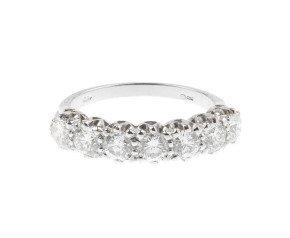 18ct White Gold 1.11ct Diamond Half Eternity Ring