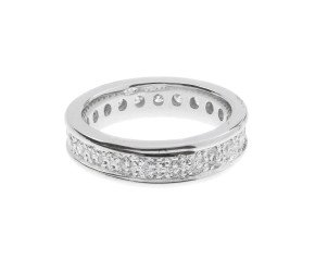 18ct White Gold 1.17cts Diamond Full Eternity Ring