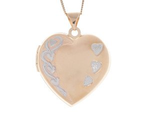 9ct Yellow Gold Heart Family Locket