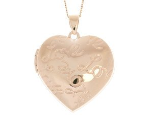 9ct Yellow Gold LOVE Heart Locket