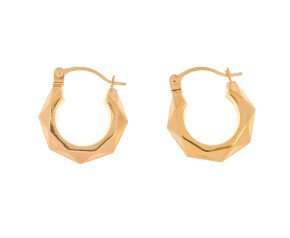 9ct Yellow Gold Creole Hoop Earrings