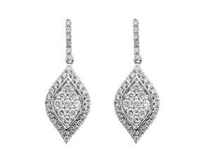 18ct White Gold 0.50ct Diamond Drop Earrings