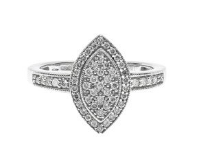 18ct White Gold 0.25ct Diamond Cluster Ring