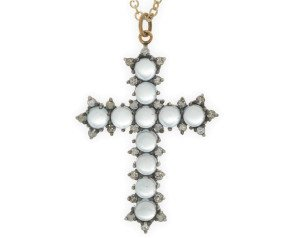 Topaz & Diamond Cross Pendant