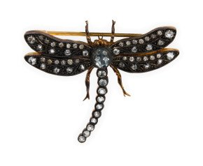 Topaz & Diamond Dragonfly Brooch