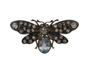 Topaz & Diamond Bee Brooch