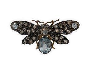 Topaz & Diamond Bee Brooch