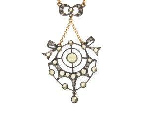 Peridot & Diamond Necklet