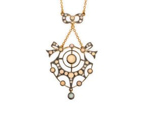 Opal & Diamond Necklet