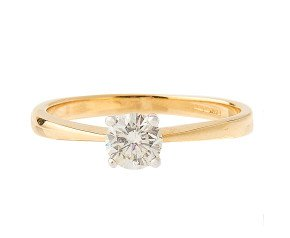 18ct Gold Certified 0.52ct Diamond Solitaire Ring