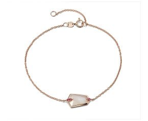 18ct Rose Gold 1ct Mother Of Pearl & 0.20ct Pink Sapphire Nova Kite Bracelet
