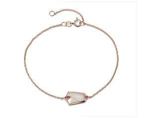 18ct Rose Gold 1ct Mother Of Pearl & 0.20ct Pink Sapphire Nova Kite Bracelet