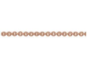 9ct Rose Gold 2.75mm Close Link Trace Chain