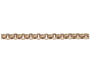 9ct Rose Gold 4.39mm Round Belcher Chain Bracelet