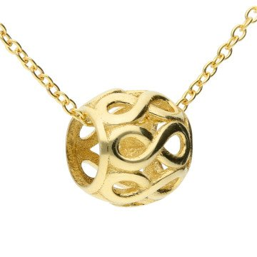 9ct Yellow Gold Infinity Ball Pendant