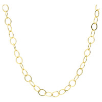 9ct Yellow Gold 6.46mm Hammered Trace Chain