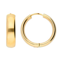 9ct Yellow Gold 20mm Chunky Hinged Hoops