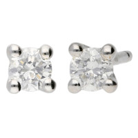 9ct White Gold 0.15ct Diamond Solitaire Earrings