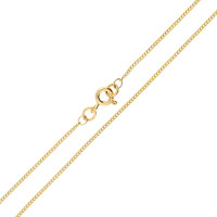 9ct Yellow Gold 1.20mm Curb Chain