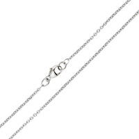 18ct White Gold 1.46mm Close Link Filed Trace Chain