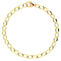 9ct Yellow Gold 5.47mm Oval Filed Belcher Bracelet