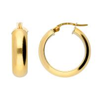 18ct Yellow Gold 19mm Hoop Earrings