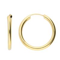 9ct Yellow Gold 20mm Chunky Sleeper Hoop Earrings
