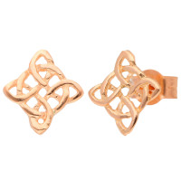 9ct Rose Gold Celtic Style Stud Earrings