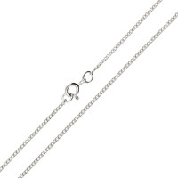 9ct White Gold 1.59mm Filed Curb Chain