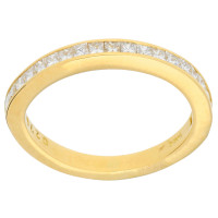 18ct Gold 0.55ct Princess Cut Diamond Half Eternity Ring