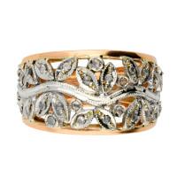 Handcrafted Italian 0.30ct Diamond Fancy Dress Ring