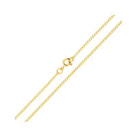 9ct Yellow Gold 1.64mm Curb Chain