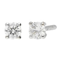 18ct White Gold 0.25ct Diamond Solitare Stud Earrings