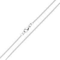 18ct White Gold 1.37mm Curb Chain