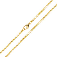 18ct Yellow Gold 2.25mm Baby Belcher Chain