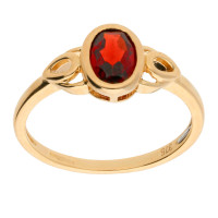 9ct Yellow Gold Garnet Celtic Dress Ring