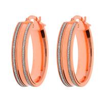 9ct Rose Gold Oval Hoop Earrings
