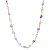 Amethyst & Peridot Fancy Necklace