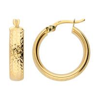 9ct Yellow Gold 19mm Hoop Earrings