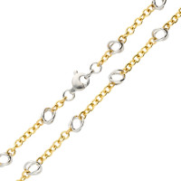 9ct Yellow & White Gold Fancy Chain Necklace