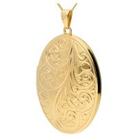 9ct Yellow Gold Large Family Oval Locket