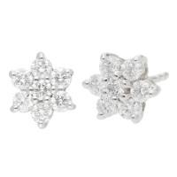 18ct White Gold 0.60ct Diamond Cluster Earrings
