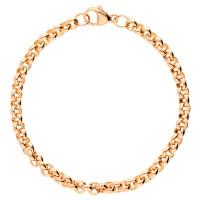 9ct Rose Gold 5.08mm Round Belcher Bracelet