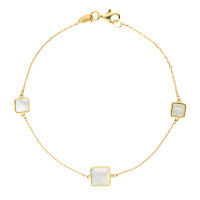 9ct Yellow Gold Mother Of Pearl Bracelet