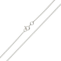 9ct White Gold 1.64mm Curb Chain